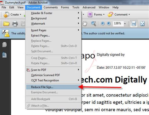 compress existing pdf how to reduce pdf file size in adobe acrobat dummytech com