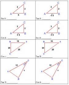 trigonometric ratios worksheet davezan