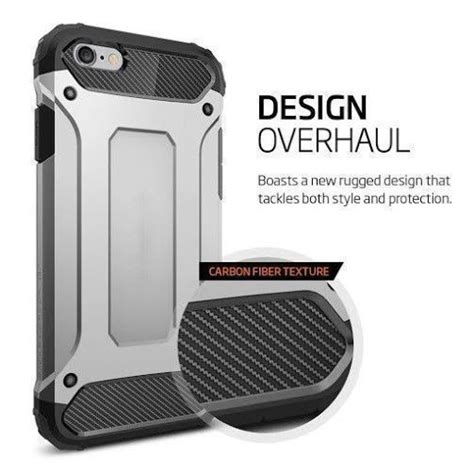 Spigen Tough Armor Tech Apple Iphone 6 6s Satin Silver spigen 174 apple iphone 6 6s tough armor tech back cover