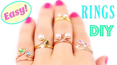 jewelry to make and sell 5 diy rings easy adjustable how to make a ring easy
