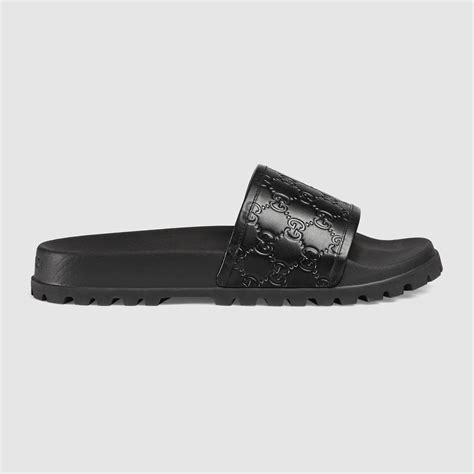 Sandal Gucci Import 50 Gucci Signature Slide Sandal In Black For Lyst
