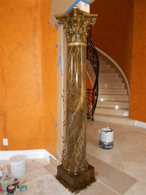 how to paint faux marble columns faux marble columns fireplaces mediterranean los
