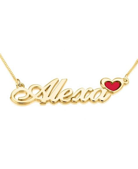 name necklace gold vermeil name necklace gold plated