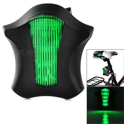 Lu Sepeda Laser Bicycle Strobe Tailight 5 Led bicycle 5 led green light 2 x laser light 2 x aaa house of extream deals
