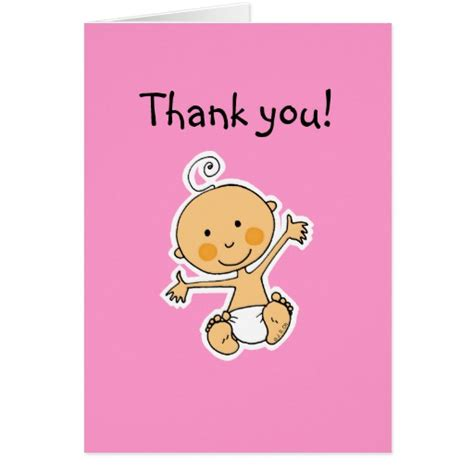 thank u baby shower cards baby shower thank you cards zazzle