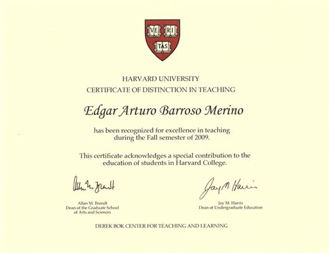 Harvard Business School Distance Learning Mba by Edgar Barroso Awarded With A Harvard