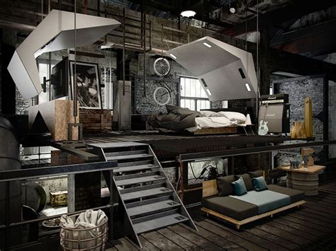 loft bedroom designs best 25 industrial bedroom design ideas on