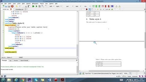 latex tutorial insert image how to insert draw tables in a latex document exles hd