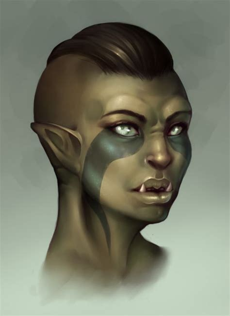 skyrim orc female face 154 best fantasy orcs images on pinterest character