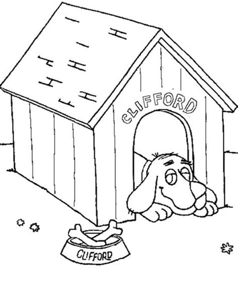 clifford dog house dog house coloring pages getcoloringpages com
