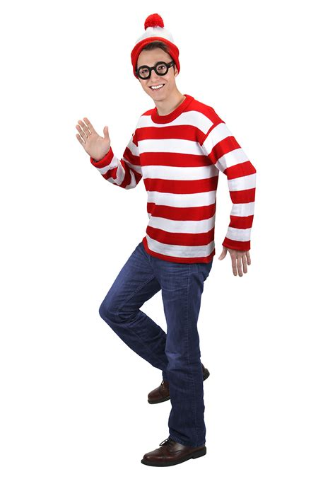 halloween costumes adult deluxe where s waldo costume