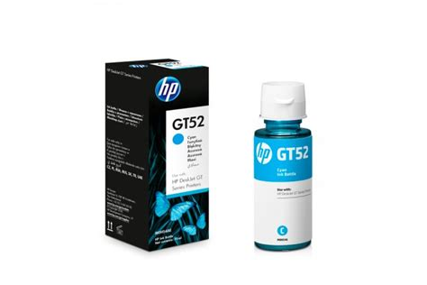 Tinta Botol Original Hp Ink Gt52 Cyan Tinta Hp Ink Bottle Gt 52 botella de tinta hp gt52 cyan ktronix tienda