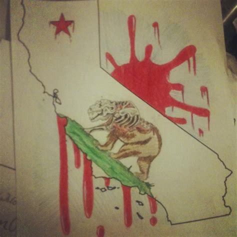 extinct california bear flag state map tattoo bear flag
