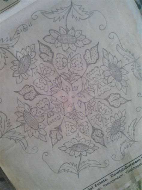 sunflowers muggulu sunflowers rangoli designs and indian rangoli