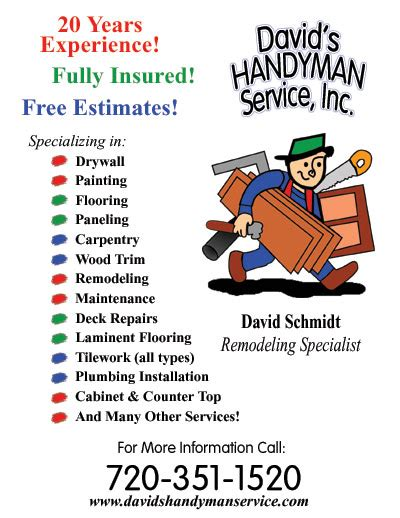 free handyman flyer template handyman flyer template images