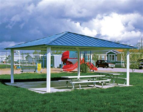 metall pavillon all steel single roof forestview square pavilions