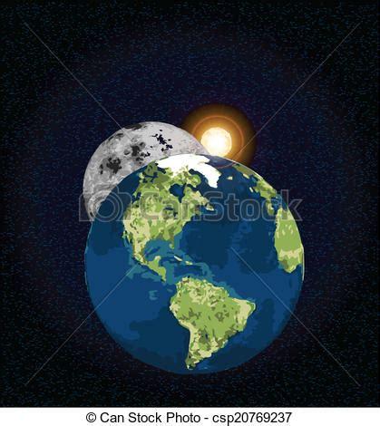 ilustraciones de vectores de sol tierra luna espacio tierra luna sol estrella encima interplanetario luna