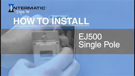 install  ej single pole time switch youtube