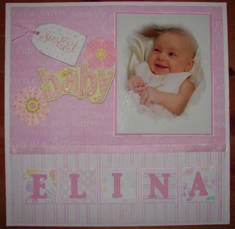scrapbook layout baby girl creative keepsakes custom scrapbooks scrapbook layouts