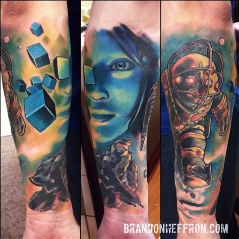 video game sleeve by brandon heffron tattoonow