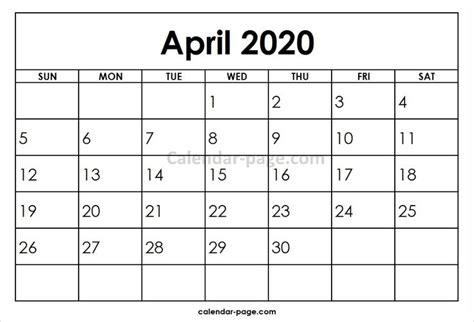april  printable calendar template blank calendar