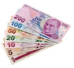 turkish currency money in turkey