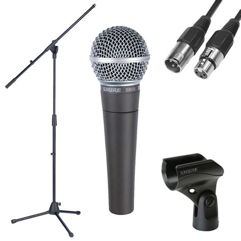 Stand Microphone Vocal shure sm58 dynamic vocal mic with stand and cable rich