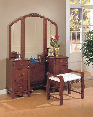cheap bedroom vanities for sale black friday cherry brown finish wood large dressing