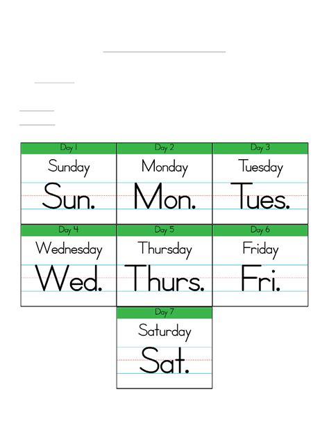 Calendar Abbreviation Image Gallery Week Abbreviations
