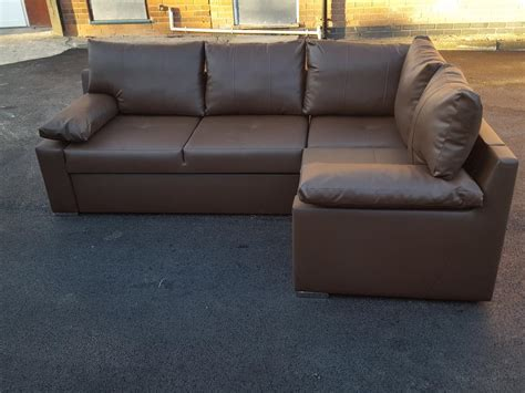 used leather corner sofa brand new brown leather corner sofa bed with storage can