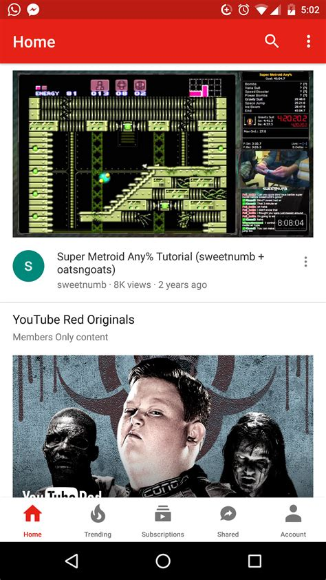 layout android youtube new youtube ui with navigation bar on bottom rolling out