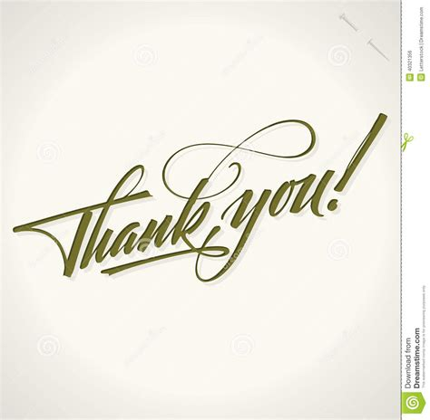 Handmade Lettering - thank you lettering vector stock vector image