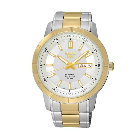 Jam Tangan Pria Seiko 5 Snzf79 Silver Gold jual seiko 5 automatic snkn58k1 silver gold jam tangan