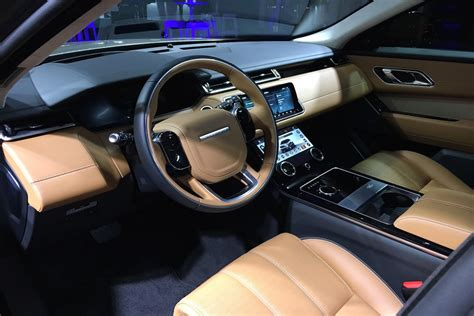 velar land rover interior 2018 land rover range rover velar debut pictures