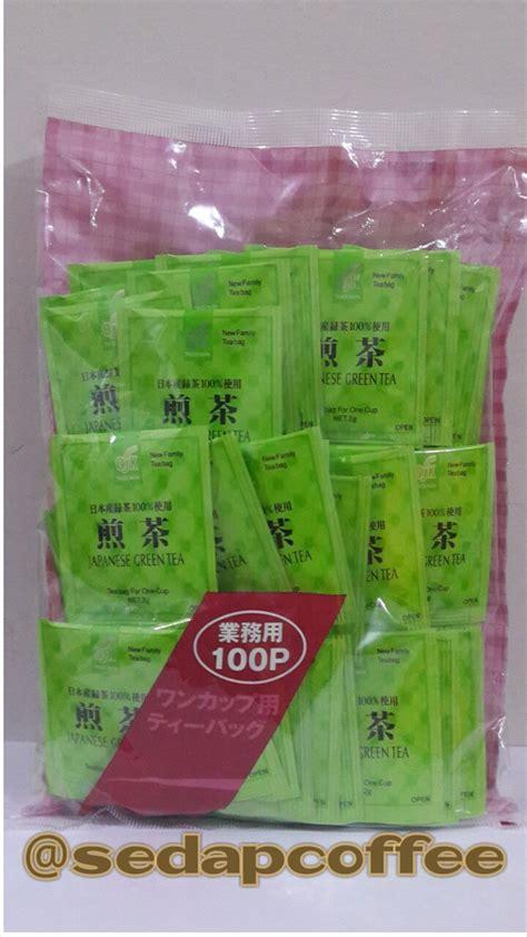 Teh Hijau Kepala Djenggot Premium Green Tea Premium jual promo osk japanese green tea teh hijau jepang 100 sachets di lapak vintari kuliner