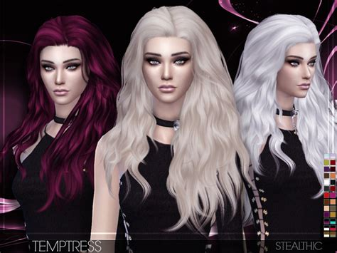 sims 4 hair temptress female hair by stealthic at tsr 187 sims 4 updates