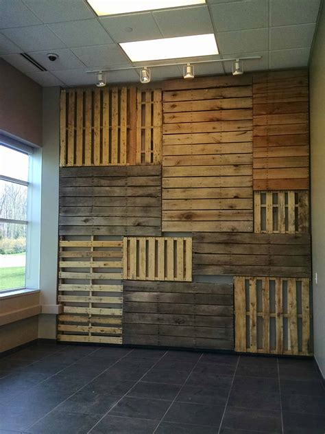 pallet focal wall  pallets