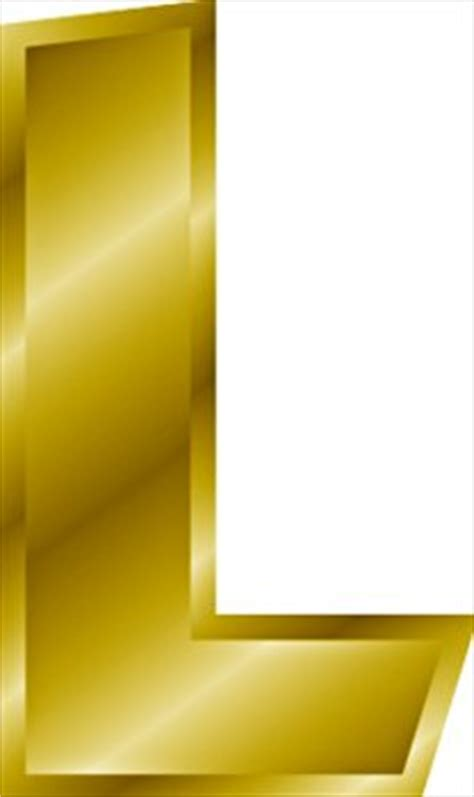 Gold L by Free Gold Letter L Clipart Free Clipart Graphics Images