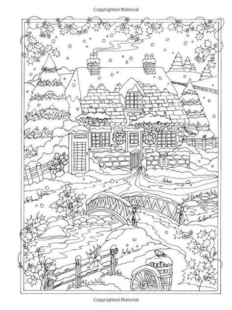 winter wonderland christmas coloring amazon com creative haven winter wonderland coloring book coloring 9780486805016