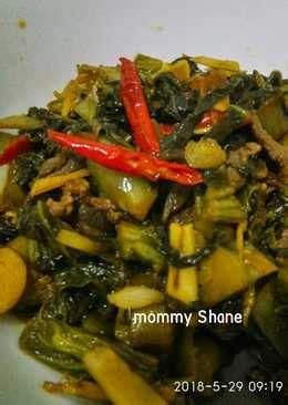 resep sayur asin enak  sederhana cookpad