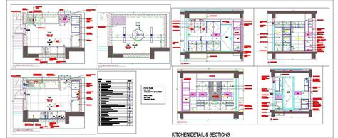modular kitchen design detail  autocad dwg file