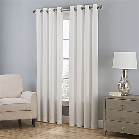 bed bath and beyond everett buy everett 95 inch grommet window curtain panel in pearl
