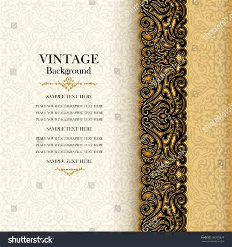 Invitation Letter Pattern Royalty Free Vintage Background Antique Invitation 186295838 Stock Photo Avopix