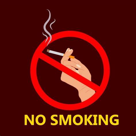 no smoking sign vector ai no smoking poster hand holding cigarette sign icon free