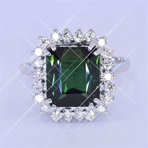 Green Tourmaline 5 25 Ct 4 57 ct green tourmaline ring no reserve price
