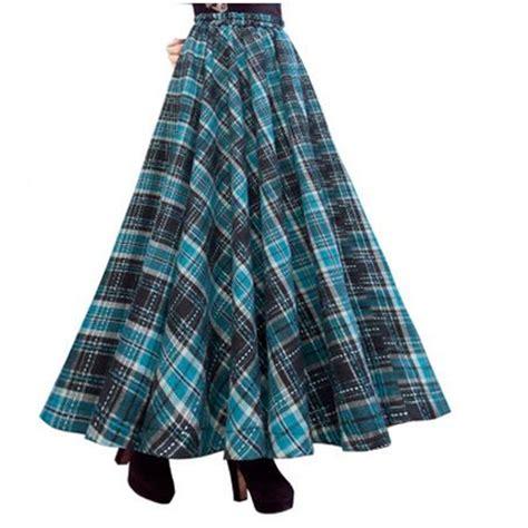 aliexpress buy vintage skirt winter plaid