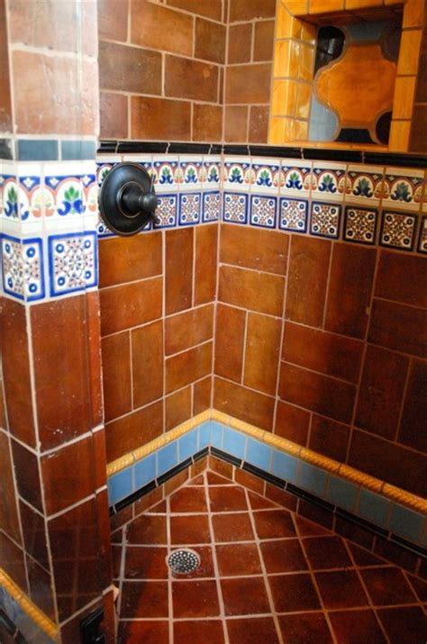 Mexican Tile Bathroom Ideas Mexican Tile Mediterranean Bathroom By Clay Imports