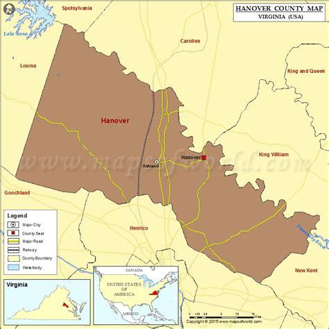 map usa hanover hanover county map virginia
