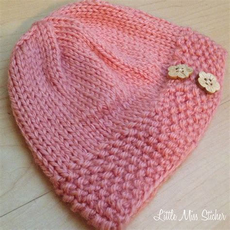 baby beanie pattern knit miss stitcher bitty beanie free knit pattern
