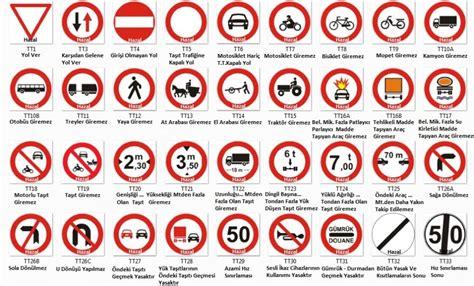 trafik isaretleri ve anlamlari resimleri
